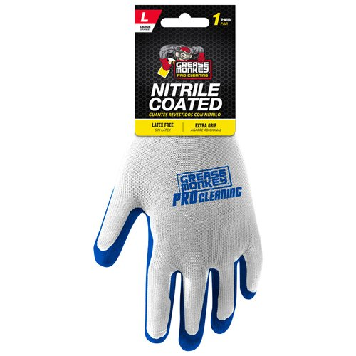 Grease Monkey Pro Cleaning Large Nitrile Coated Gloves, 1 pr