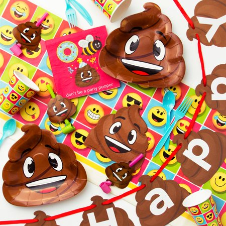 Poop Emojions Birthday Party Supplies Kit