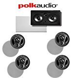 Polk Audio 70-RT + Polk Audio 255C-RT 5.0 Vanishing Series In-Ceiling   In-Wall Home Theater Speaker Package by Polk Audio
