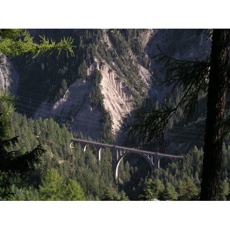 Canvas Print Switzerland Railway Bridge Viaduct Stretched Canvas 10 x 14