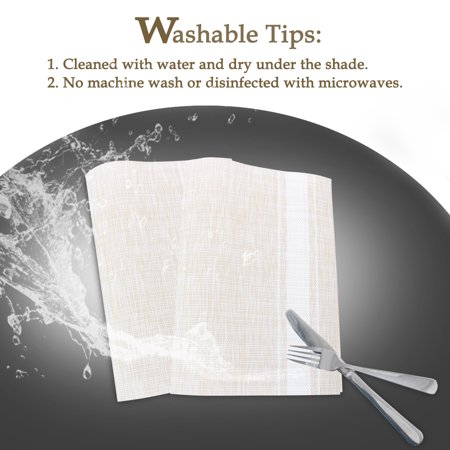 Placemats PVC Heat-resistant Non-slip Insulation Washable Table Mats 4pcs #18 - image 3 de 8