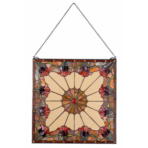 Kenroy Home Floret Stained Glass Panel, Multicolored