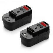 Powerextra 18V 2000mAh Replacement Battery for Black & Decker HPB18 HPB18-OPE 244760-00 A1718 A18 A18E Firestorm FS180BX FS18BX FS18FL FSB18 Ni-CD Batteries, 2-Pack