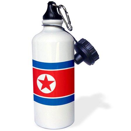 3drose Flag Of North Korea Korean Blue Red White Star Democratic