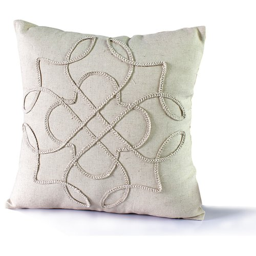 Image of 14 Karat Home Inc. Braided Brooke Throw Pillow