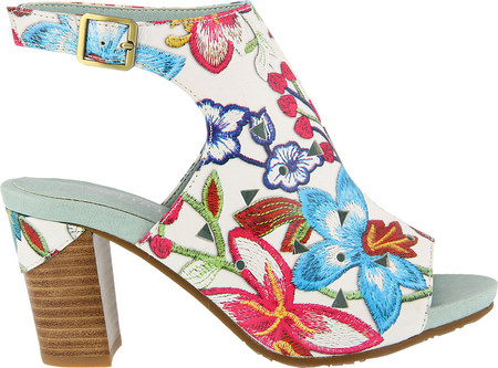 L'Artiste by Spring Step Women's Tapestry Open Toe Bootie