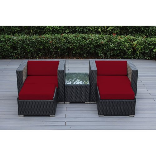 Ohana Depot Ohana 5 Piece Deep Seating Set with Cushion by