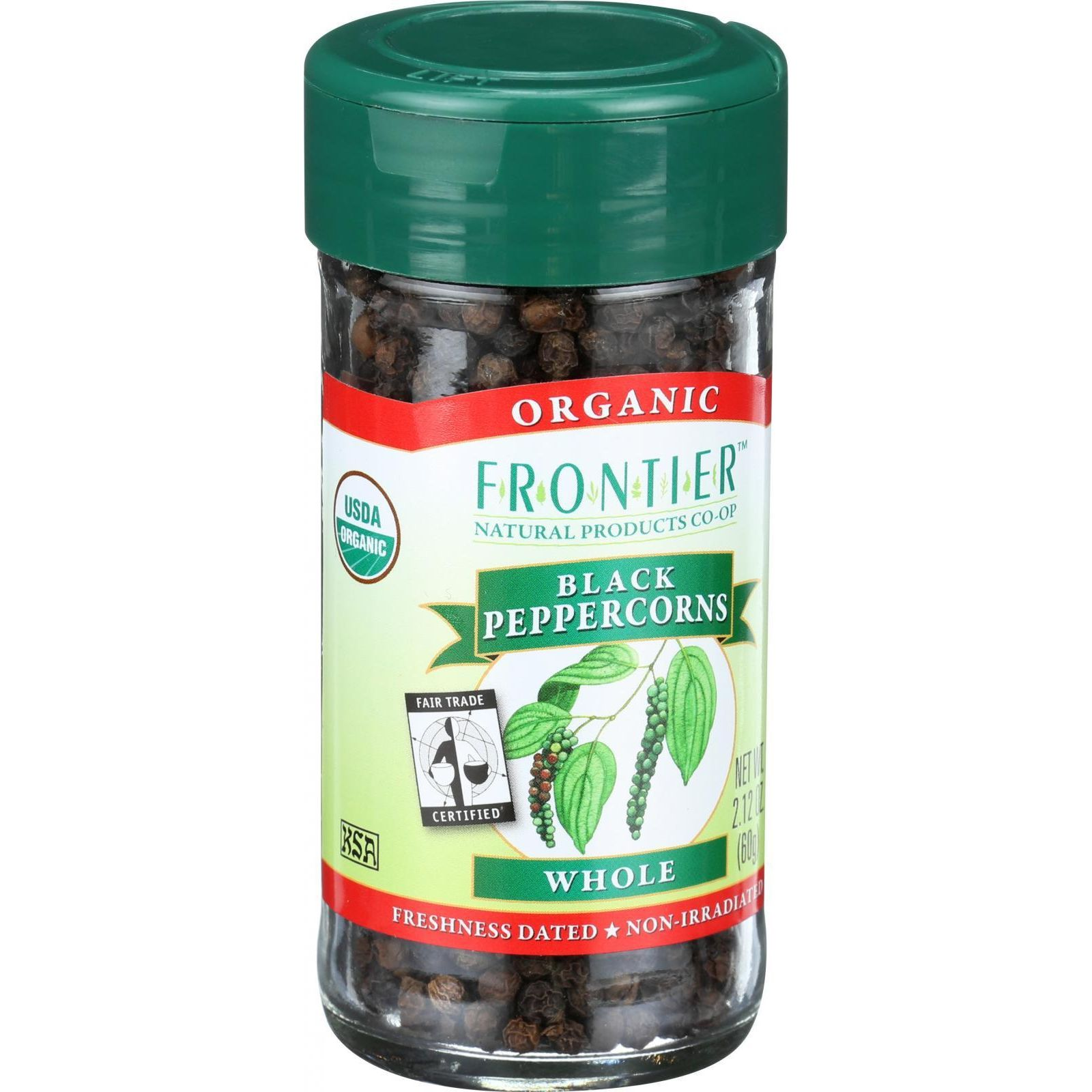 Frontier Herb Peppercorns - Organic - Fair Trade Certified - Whole - Black - 2.12 oz
