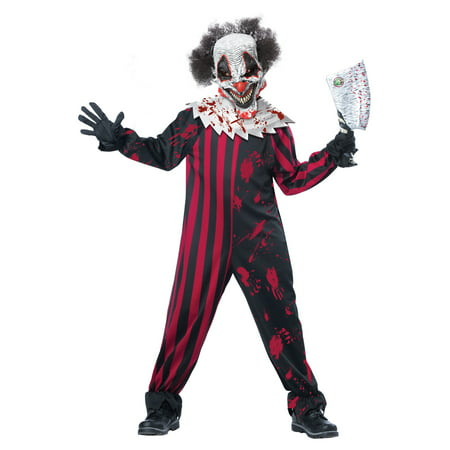 Killer Clown Child Costume - Crazy Clown Costume