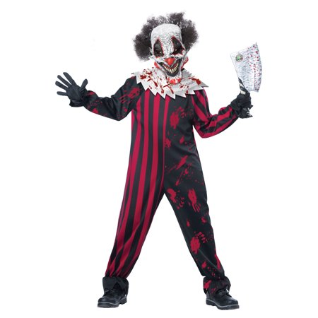 Killer Clown Halloween Costumes For Girls.Killer Clown Child Costume