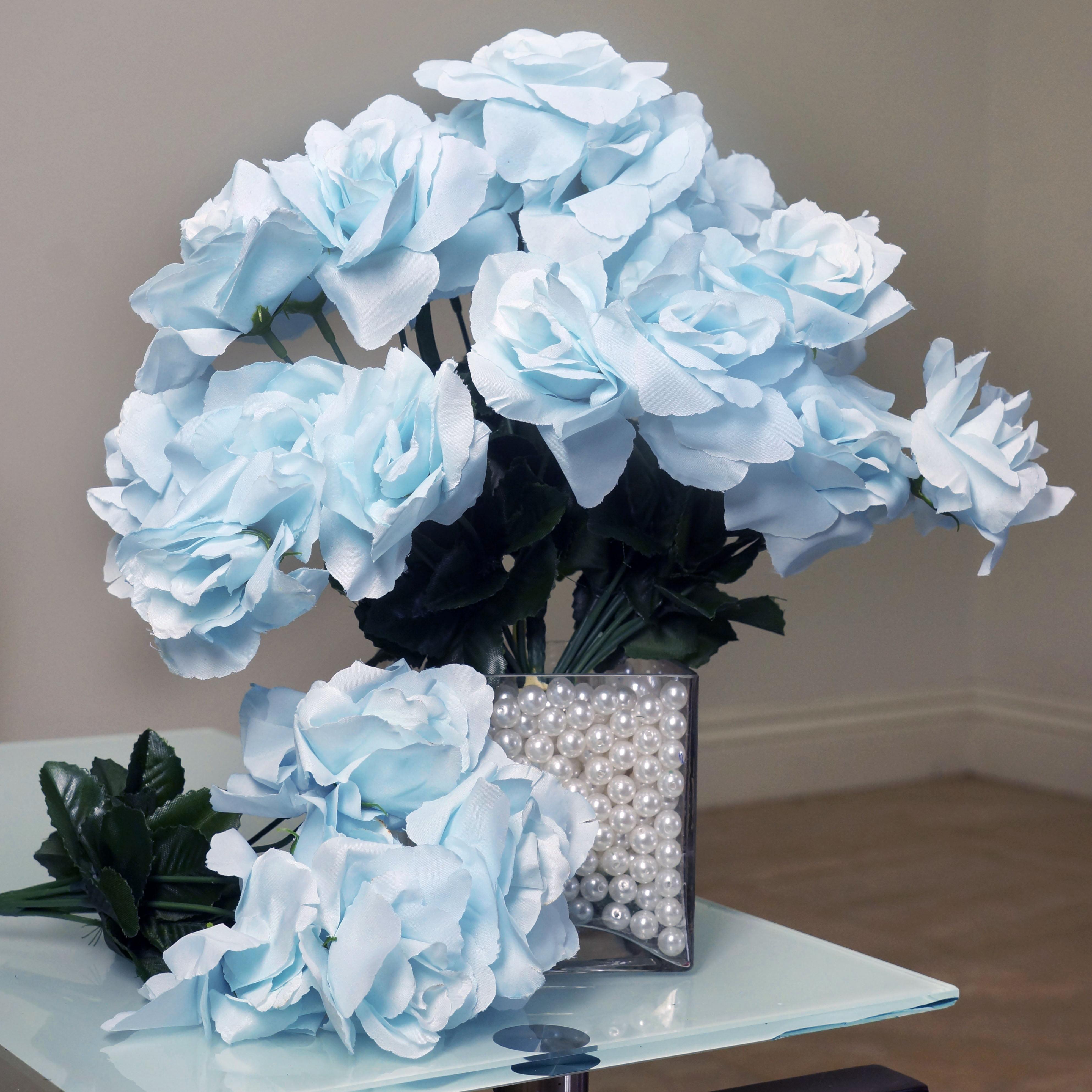 Balsacircle 84 Silk Open Roses Bouquets Diy Home Wedding Party