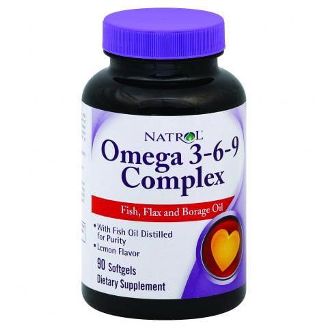 Natrol Omega-3-6-9 Complex, Fish, Flax, & Borage Oil Softgels, 90 Ct