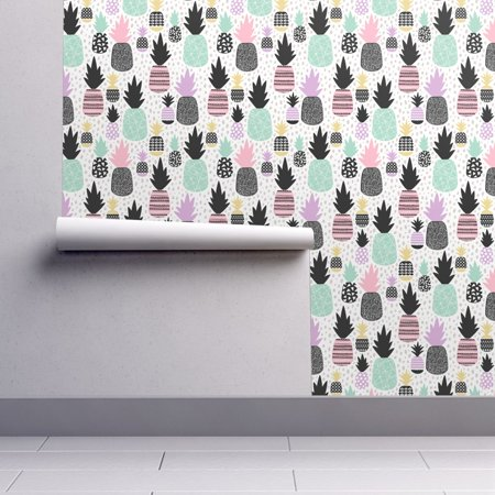 Peel-and-Stick Removable Wallpaper Pineapples Pineapples Summer Hawaii - Wallpaper Halloween Kawaii
