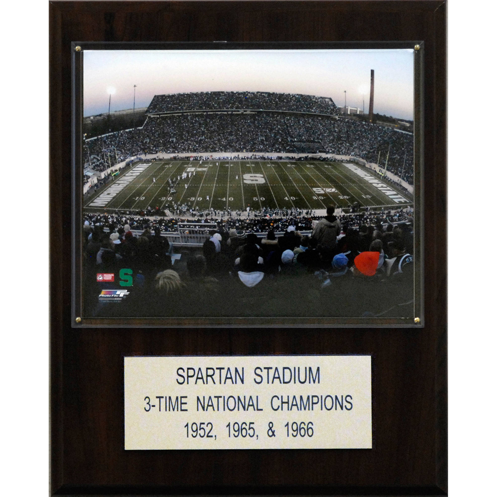 C&I Collectables NCAA Football 12x15 Spartan Stadium Stadium Plaque