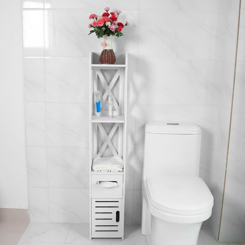 otviap bathroom storage cabinet standing tall narrow