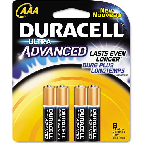 Duracell QU2400B8Z Ultra Power Alkaline Batteries with Duralock Power Preserve Technology, AAA,8-Pk