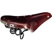 Brooks B72 Unisex Saddle Brown with black rail and clamp
