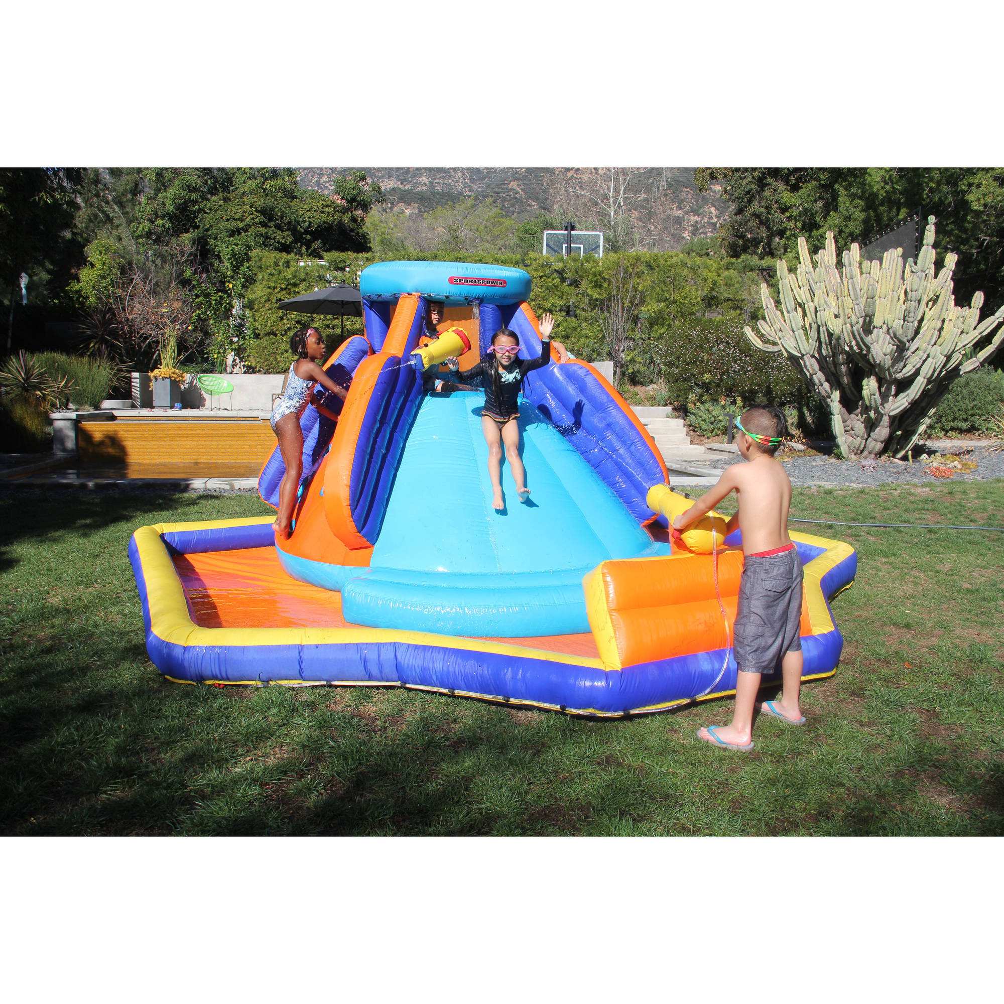 Inflatable Sportspower Battle Ridge Water Slide Outdoor
