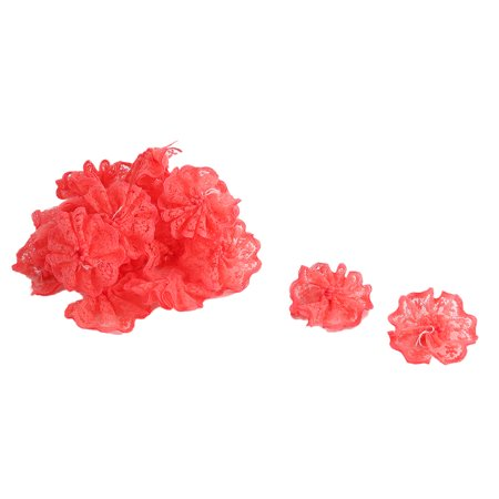 Lace Decorations (Household Party Decoration Lace Table Chair Wall Handmade DIY Flower Red 20)