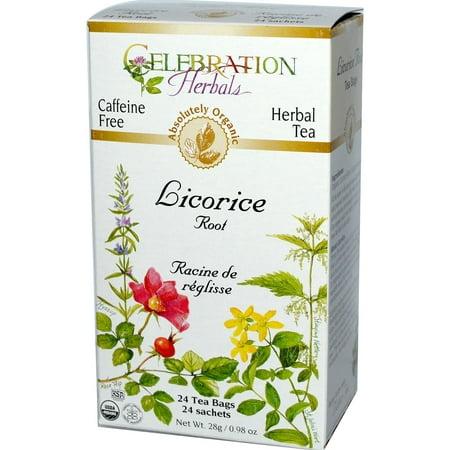Celebration Herbals Thé Réglisse Bio caféine Sacs de thé gratuit 24