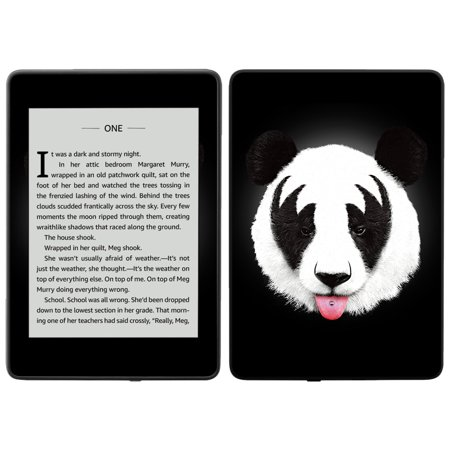 Skin for Amazon Kindle Paperwhite 2018 (waterproof model) - Rock N Roll Panda | Protective, Durable, and Unique Vinyl Decal wrap cover | Easy To Apply, Remove