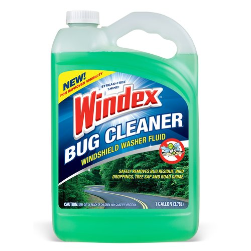Windex Bug Cleaner Windshield Washer Fluid, 1 Gal