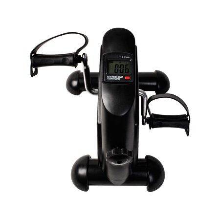 Costway Mini Pedal 4 Legs LCD Display Exerciser Cycle Fitness Indoor Exercise Bike