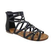 YOKI SHOES Beston DB35 Women's Gladiator Flat Sandals