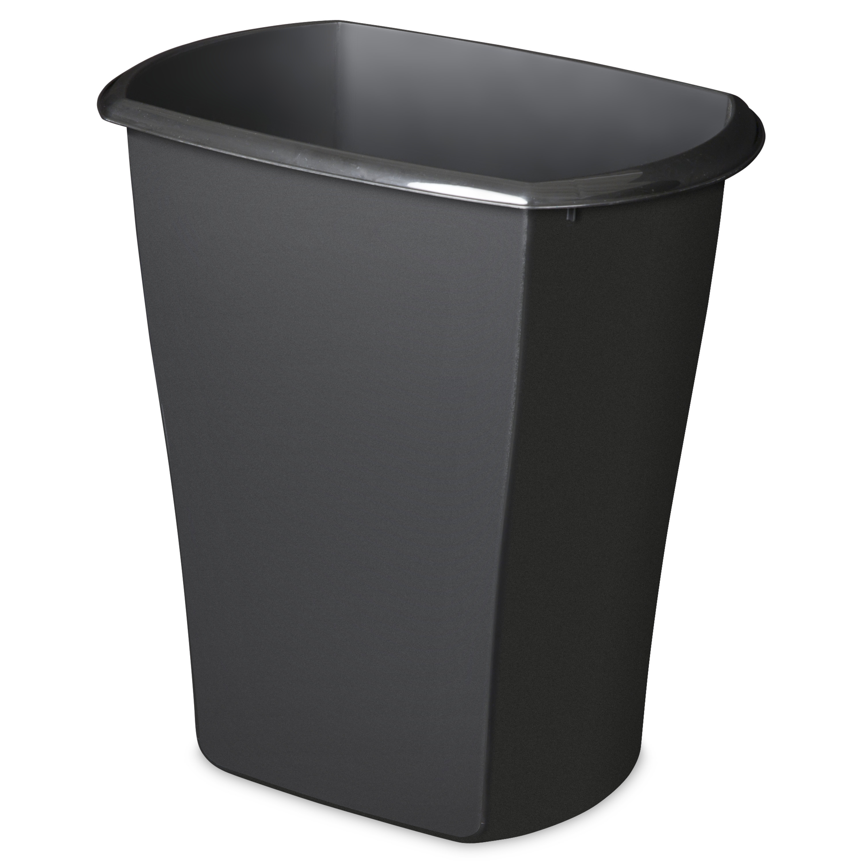 Mainstays 10 Gal. Rectangular Wastebasket Mainstay Black - Walmart.com
