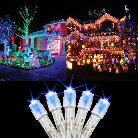 100 LED Christmas Lights 30 Feet Holiday Light Tree String Fairy Lamp Party Wedding Garden Decor ()