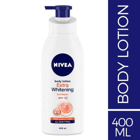 - NIVEA Body Lotion, Extra Whitening Cell Repair (SPF 15), 400ml
