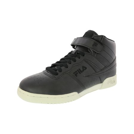 Fila F-13 Distressed Everyday Casual Sneaker for Men with Hook and Loop Strap and Laces - 12M - Black / Black