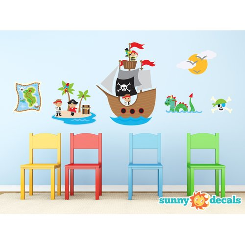 Sunny Decals Pirates Fabric Wall Decal