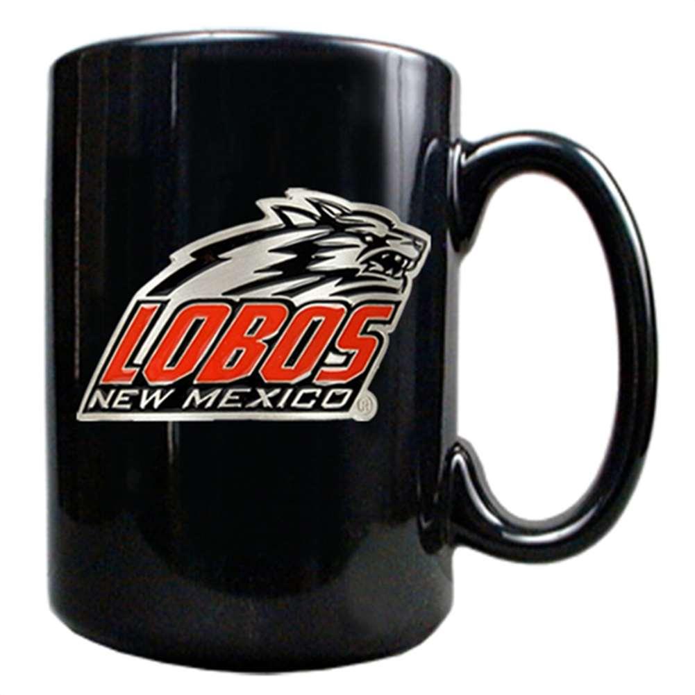 New Mexico Lobos 15oz Black Ceramic Mug