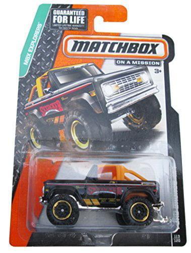 MBX Explorers Ford Bronco 4X4 1972 Black #113 120, Black Orange Bars 113 120 By Matchbox... by