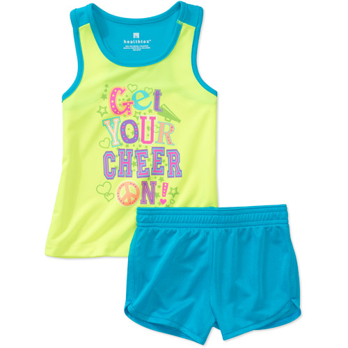 Healthtex Baby Girls' 2-Piece Active Tank and Short Set