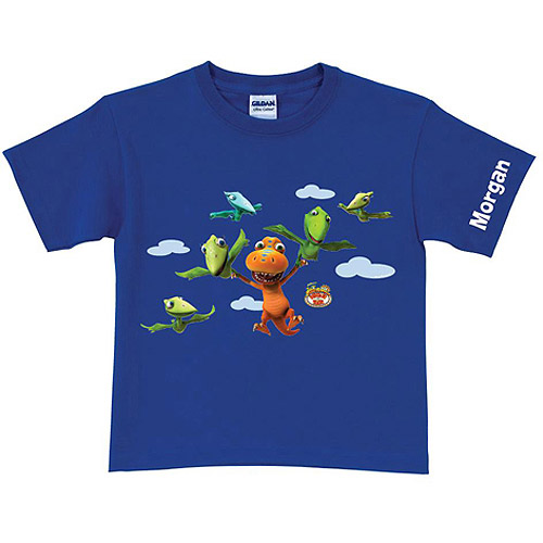 Personalized Dinosaur Train Buddy Can Fly Boys' Blue T-Shirt
