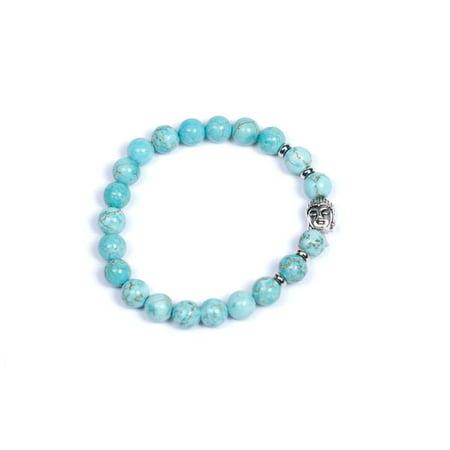 Turquoise Healing Buddha Head Charm Bracelet - Jewelry Yoga - For Men, Women, Yogi, Boho Fashion Jewelry Ann Turquoise Bracelets