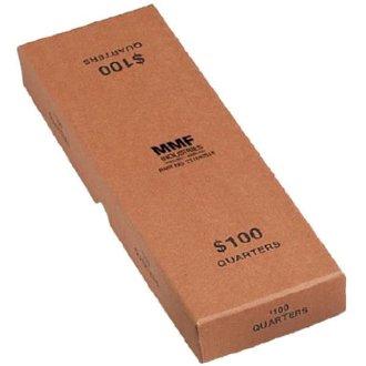 Rolled Coin Storage - MMF Industries Orange Chipboard Quarter Coin Roll Storage Box