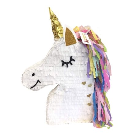 APINATA4U Unicorn Pinata Gold Heart Accents - Unicorn Pinata