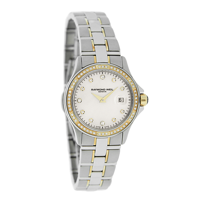 Raymond Weil Parsifal Ladies Diamond 18K Bezel Swiss Quar...