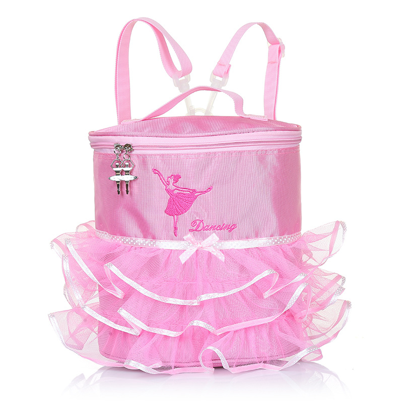 Girls Pink Dance Ballet Backpack Tutu Ballerina Dance Bags Lunch Bag for School