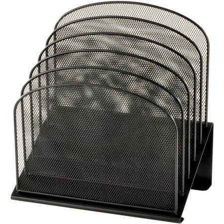 Safco Onyx Wire Mesh Desktop Organizer, Black, 1 / Each (Quantity)