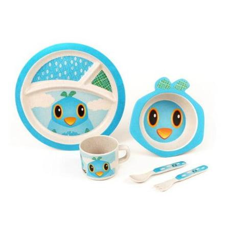 Green Frog Baby GFF004 The Bird Bamboo Kids Meal Set (Bamboo Dish Set)
