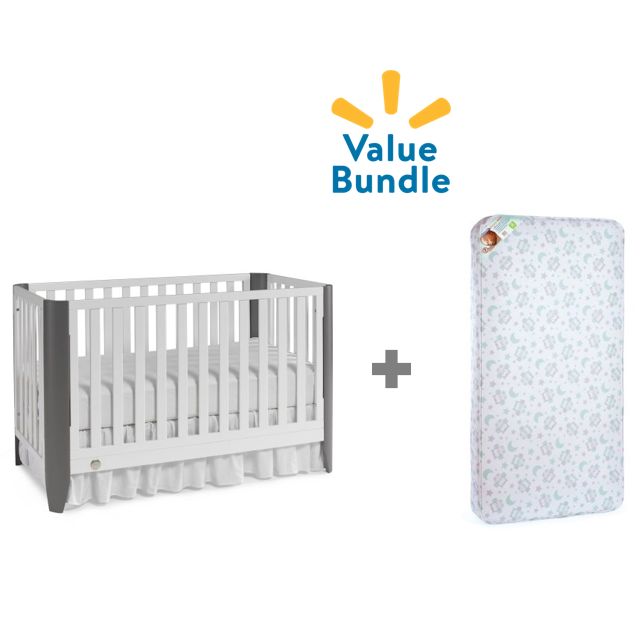 Fisher-Price Jaxon Convertible Crib + Mattress Value Bundle