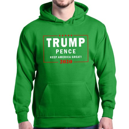 American Eagle Hoody Hooded Sweatshirt (Shop4Ever Men's Trump Pence 2020 Keep America Great! Hooded Sweatshirt)