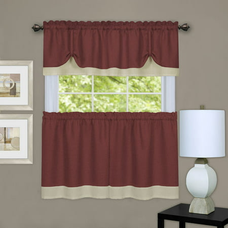 Achim Darcy Window Kitchen Curtain Tier and Valance Set ()