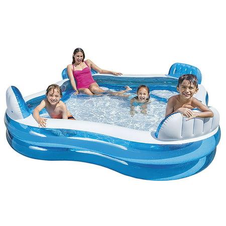 Intex Swim Center Family Lounge Inflatable Pool, 90