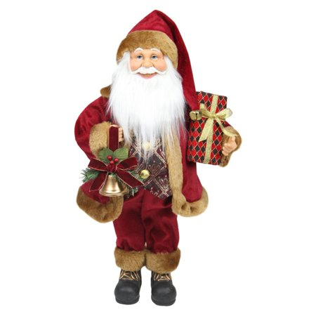 Northlight Santa Claus with Bell and Gift Christmas Tabletop Decoration (Santa Bell)