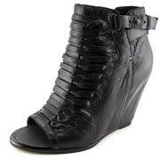 Dolce Vita Nadie Women  Open Toe Leather Black Wedge Heel